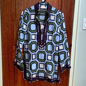 EUC Tory Burch Tunic/Bathing Suit Cover-up